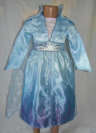 Карнавальное платье эльзы 2 на 3-4 года