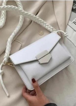 Біла сумка 2021 тредова сумочка белая сумочка
