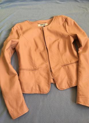 Кожаная куртка-пиджак only