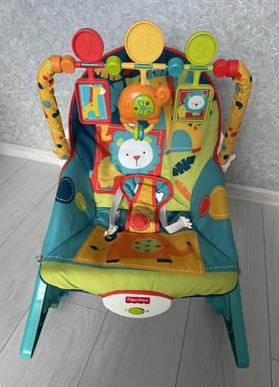Кресло качель шезлонг fisher price софари