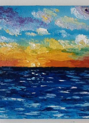 "Картина ""морской пейзаж"" миниатюра 15×15"