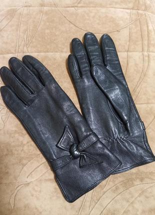 Кожаные перчатки классика