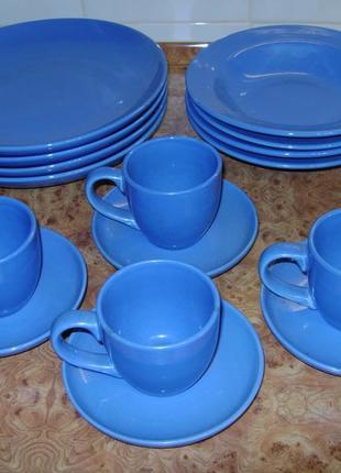 Синий сервиз на 4 персоны (16 предметов)