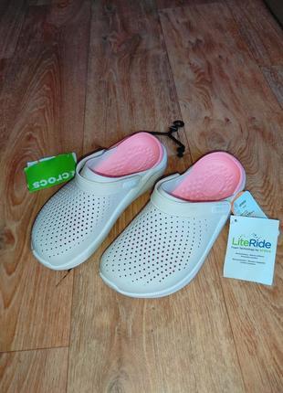 Кроксы женские новые  легкие удобные мягкие шлепки crocs literid