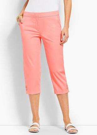 Яркие крроткие брюки капри talbots