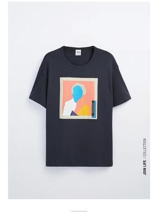 Крутая мужская футболка свежайшая коллекция zara унисекс