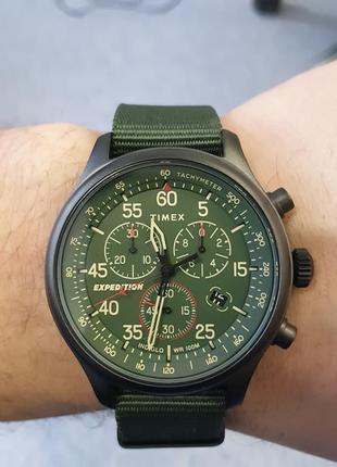 Часы timex tw2t72800 field expedition chronograph