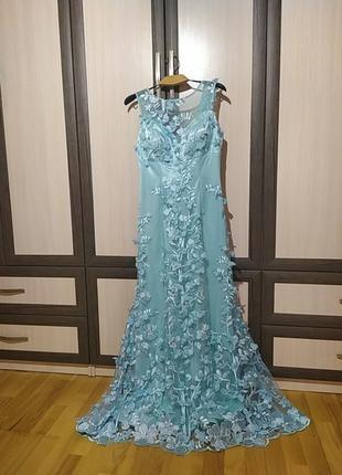 Вечернее платье в пол 3д