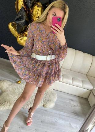 Платье с цветочным принтом (2 расцветки)