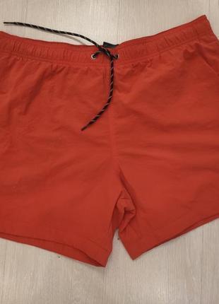 Новые шорты для купания мужские оранжевые hm , l размер
