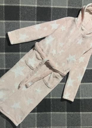 Детский халат со звездами marks&spencer ( маркс и спенсер 11-12 лет 146-152 см идеал)