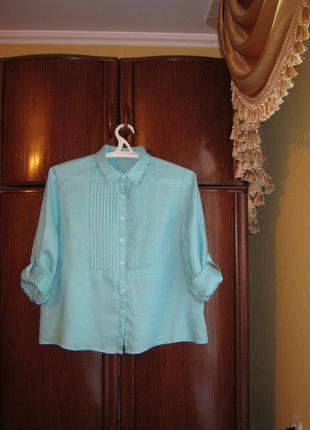 Рубашка john lewis, 100% лен, размер 18