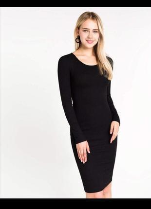 Платье миди лапша с рукавами