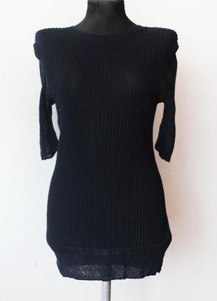 Удлиненная футболка из тончайшего льняного трикотажа cos лен