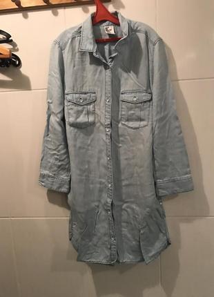 Платье рубашка denim co размер xs s