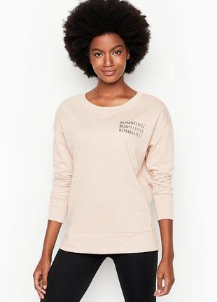 Свитшот victoria's secret fleece oversized crew