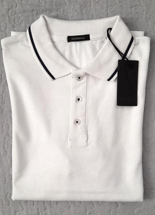 Белая мужская футболка поло sorbino
