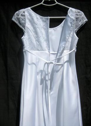 Платье lilly свадебное выпускное белое короткое4 фото