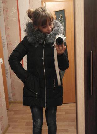 Пуховик теплый-классный зима fine babycat