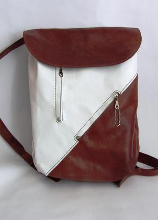 Рюкзак из натуральной кожи ручная авторская работа.