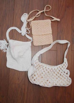 Цена за все плетеные сумки, сумка плетеная боха корзинка вязанная текстильная