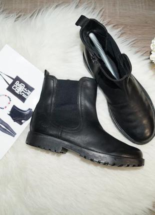(35р./23см) clarks кожа комфортные стильные ботинки, челси, сапоги, полусапожки