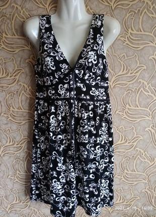 Отличное вискозное платье h&m / размер 8/36