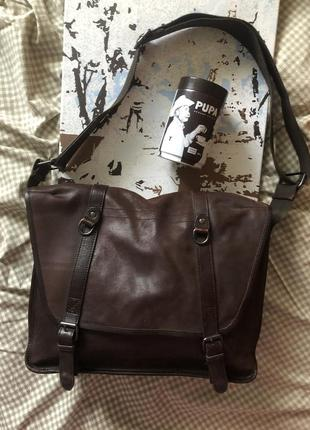 Чоловіча шкіряна сумка-портфель, натуральна шкіра jost