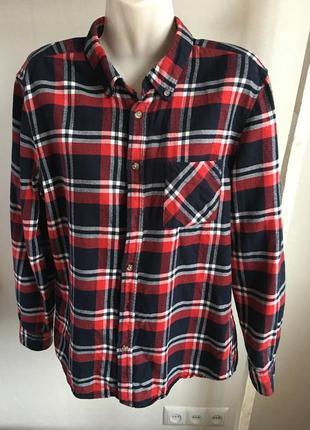 Рубашка в клетку h&m размер s