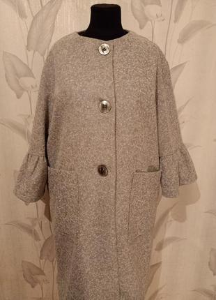 Легкое пальто/кардиган весна -осень р.58-60.много вещи больших размеров