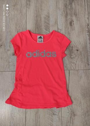 Дитячий одяг із сша. футболка adidas на дівчинку 4р.