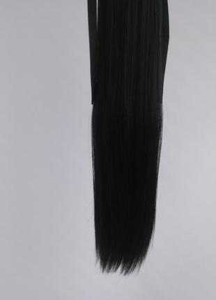 Накладной чёрный хвост на ленте