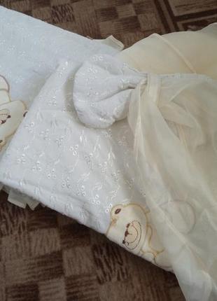 Постелька  с балдахином в кроватку малышу