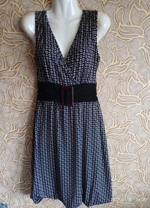 Вискозное летнее платье zeropoint / размер 38