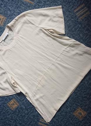 Очаровательная шелковая блуза/летняя футболка samsoe samsoe #100%шелк#