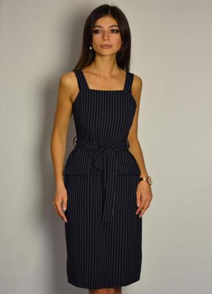 Стильное платье миди в полоску topshop