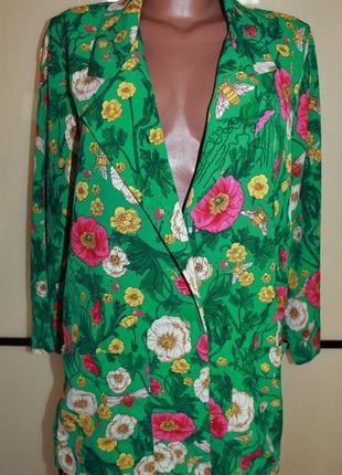 Monki пиджак блейзер кардиган в цветочный принт