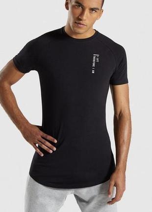 Мужская спортивная футболка  gymshark black friday t-shirt англия  оригинал