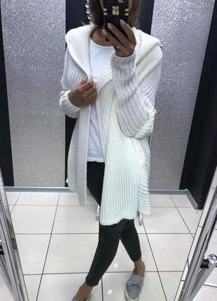 Кардиган вязанный paparazzi fashion молрчно белый брендовая польша