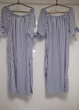 Платье полоска италия, 50-54