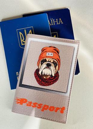 Обложка на паспорт, загранпаспорт, загран собака