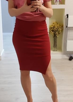 Трикотажная юбка-резинка