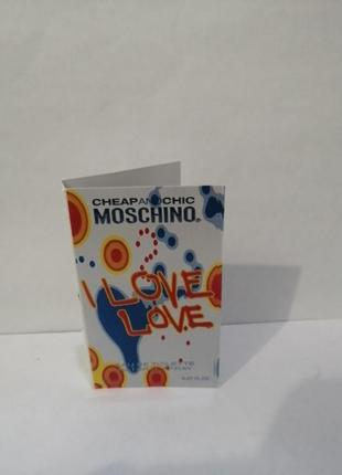 Moschino i love love, женская туалетная вода, 2мл пробник