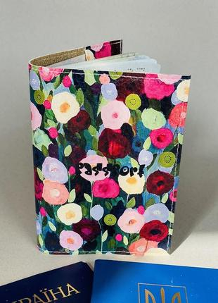 Цветы обложка на паспорт,загранпаспорт