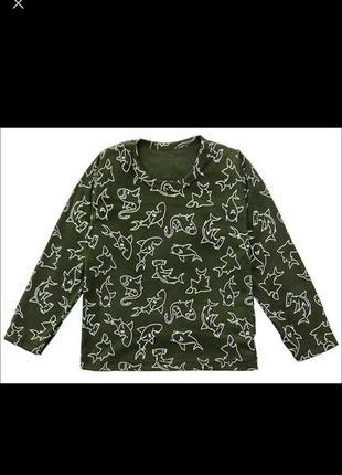 Лонгслив футболка акула