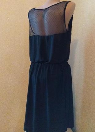 Платье с красивой спинкой сетка