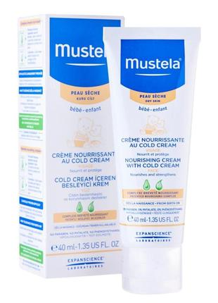 Питательный крем для лица mustela noursing cream with cold cream  кольд-крем