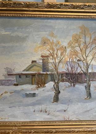 Авторская работа «зимний пейзаж»