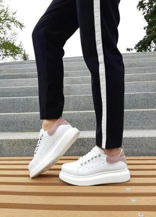 Стильные кожаные женские кроссовки, натуральная кожа