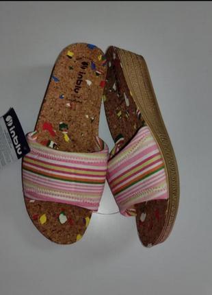 Женские тапочки с корковой стелькой тм inblu